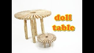 Doll Furniture Tutorial - Round Table