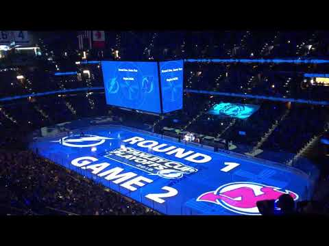 Tampa Bay Lightning Opening Pregame 4/14/18 vs New Jersey Devils Round 1 Game 2