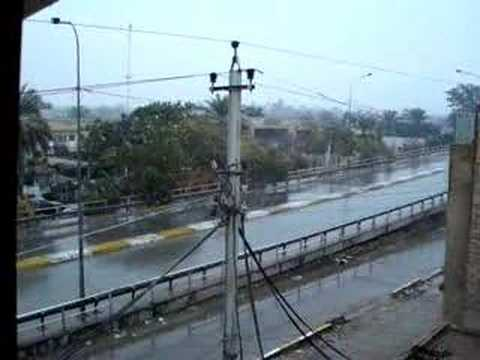 Snow in Baghdad