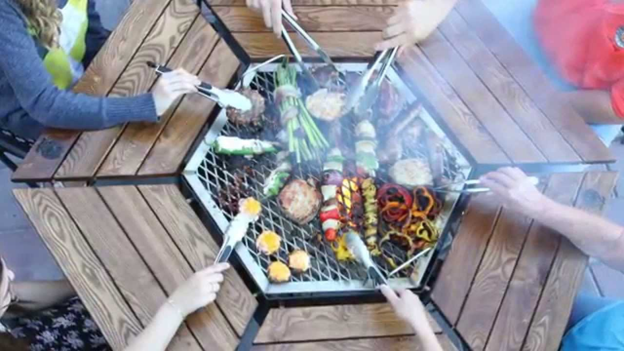 6 Seat JAG Grill Features Grill  Firepit  Table  YouTube