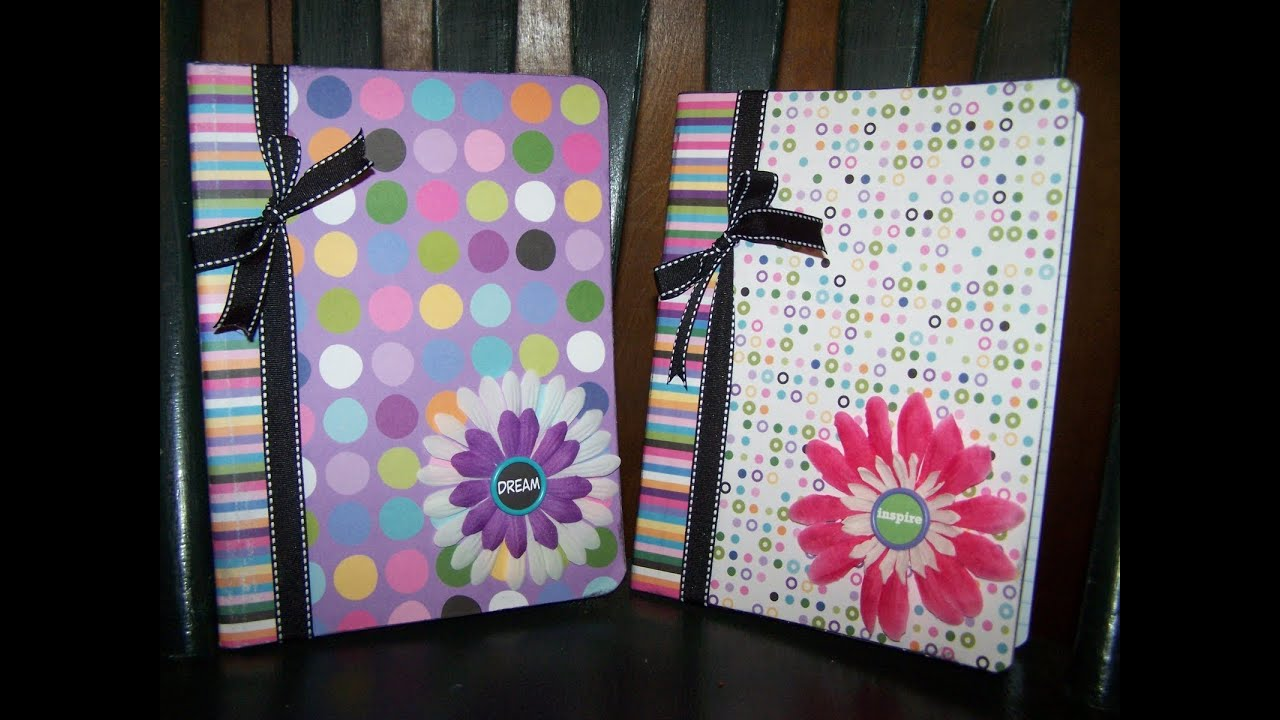 Diy decorated recycled notebook youtube for Back to school notebook decoration ideas