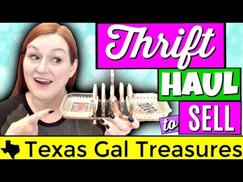 Thrift Store Haul 2018 to Sell on Ebay and Etsy - Vintage Haul Video - Reseller Thrifting Haul