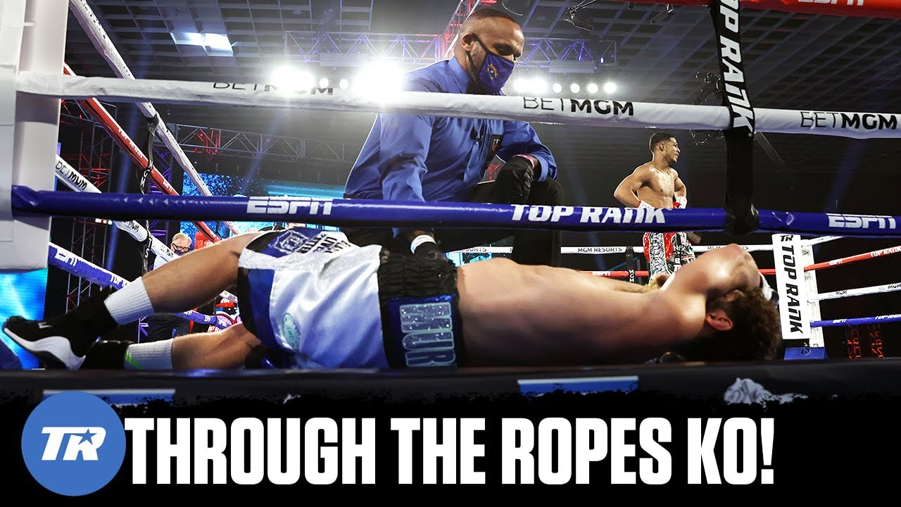 Elvis Rodriguez sends Murray through the ropes in Amazing TKO! | FULL FIGHT HIGHLIGHTS