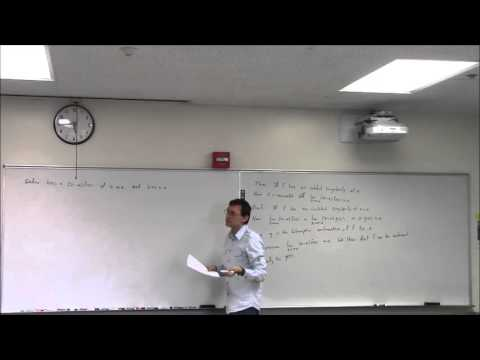 Complex Variables (Lecture 18): Classification of Singularit
