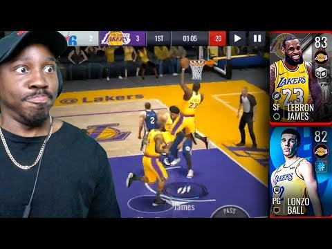 LONZO THROWS NASTY ALLEY-OOP TO LEBRON! NBA Live Mobile 19 Season 3 Gameplay Ep. 10