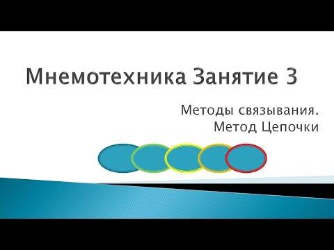 Мнемотехника урок 3 видео