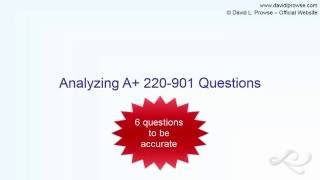 Analyzing A+ 220-901 Sample Questions