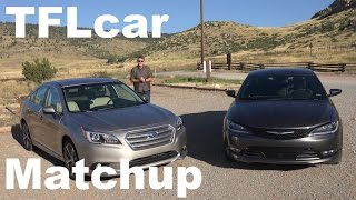 2015 Chrysler 200S vs Subaru Legacy 3.6L TFL4K Matchup Review: AWD vs AWD