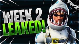 ALL WEEK 2 CHALLENGES LEAKED! SEARCH BETWEEN AN OASIS, ROCK ARCHWAY & DINOSAURS (Fortnite BR)