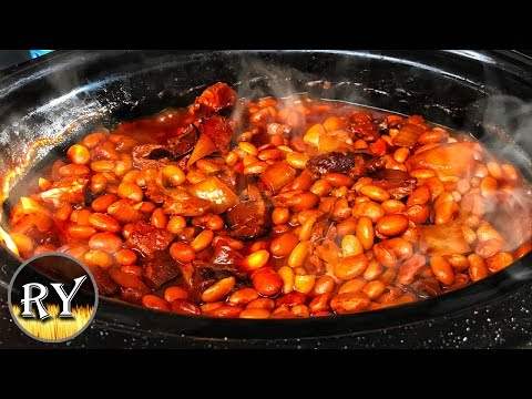 Easy BBQ Pork & Beans Made In The Slow Cooker