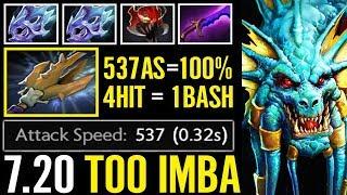 NEW CANCER BASH LORD 537 Attack Speed Slardar IMBA 7.20 Newiest Crazy Fun Dota 2 Gameplay
