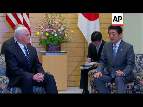 """Pence and Abe discuss North Korean """"menace and threats"""""""