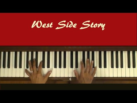 West Side Story Maria Piano Tutorial SLOW