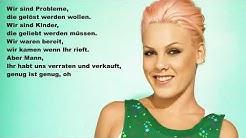 Pink - What About Us (Deutsche Übersetzung)