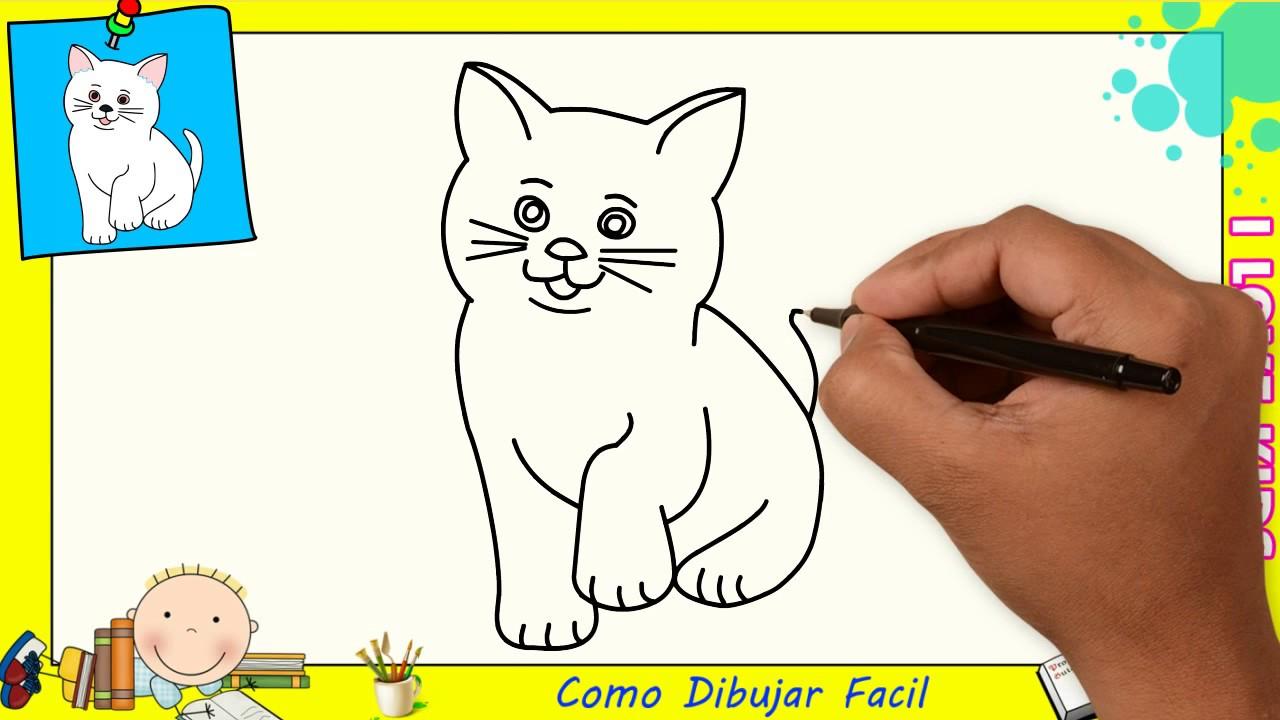 Dibujos De Gatos Faciles Paso A Paso Para Niños Como Dibujar Un