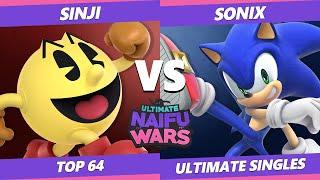Naifu Wars 13 Top 64 - Sonix (Sonic) Vs. Sinji (Pac-Man) SSBU Singles
