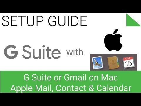 Sync Mail, Contacts and Calendar on Mac