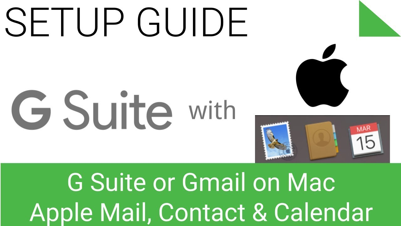 Sync G Suite Mail, Contacts and Calendar on Mac