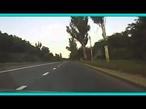 CRAZY! Dashcam Catches 'Missile' Hitting Road Before Car Crash!