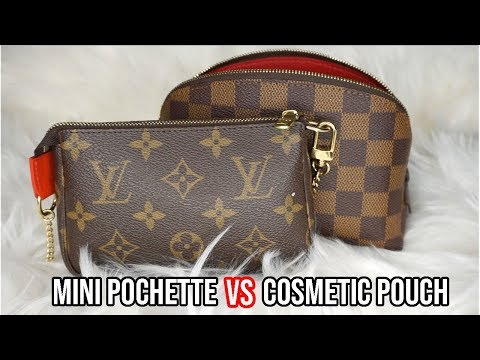 LOUIS VUITTON MINI POCHETTE VS COSMETIC POUCH