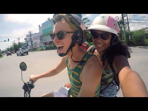 RIDING MOTORBIKE IN THAILAND