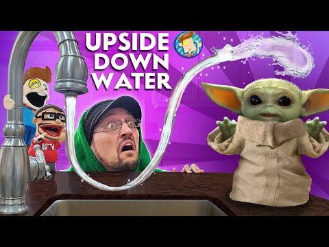 BABY YODA's UPSIDE DOWN WATER (FV Family Anti-Gravity Vlog)