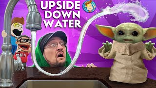 BABY YODA's UPSIDE DOWN WATER (FV Family Anti-Gravity Vlog)