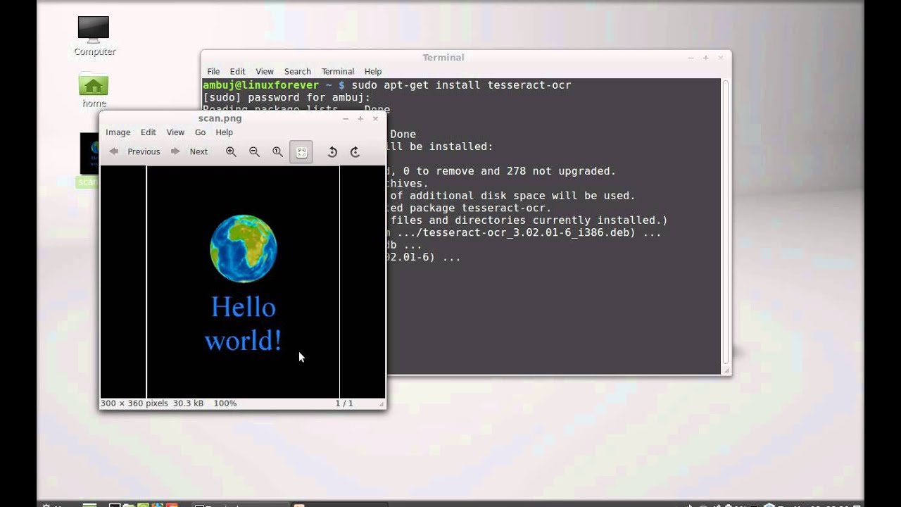 Tesseract-ocr : Image to Text Converter (OCR) For Linux Mint/Ubuntu