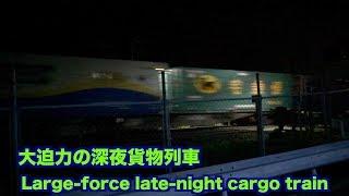 【貨物列車】真夏の夜 大迫力の深夜貨物列車