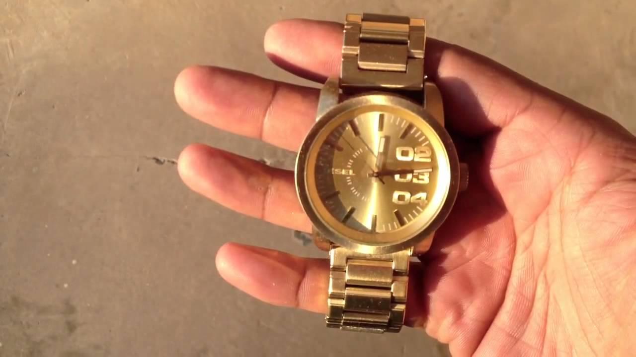 diesel watch dz1466 gold