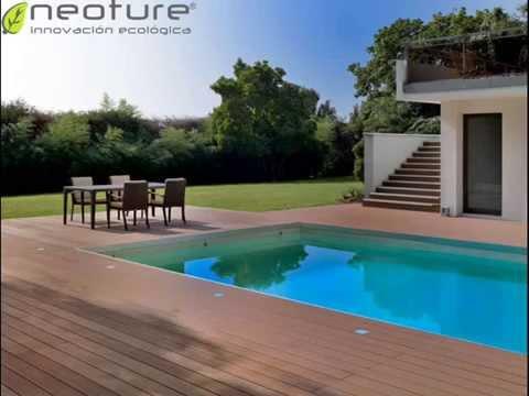 Tarima para piscinas en madera tecnologica youtube for Madera para piscinas