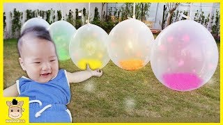 Learn Colors with Balloons Funny Candy Finger Family Songs Nursery Rhymes For Kid | MariAndKids Toys