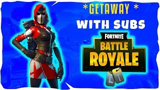 🔴*GETAWAY* WITH SUBS//SOLO SNIPES//CODE NICTRIXYT: FORTNITE BATTLE ROYALE (LIVE)
