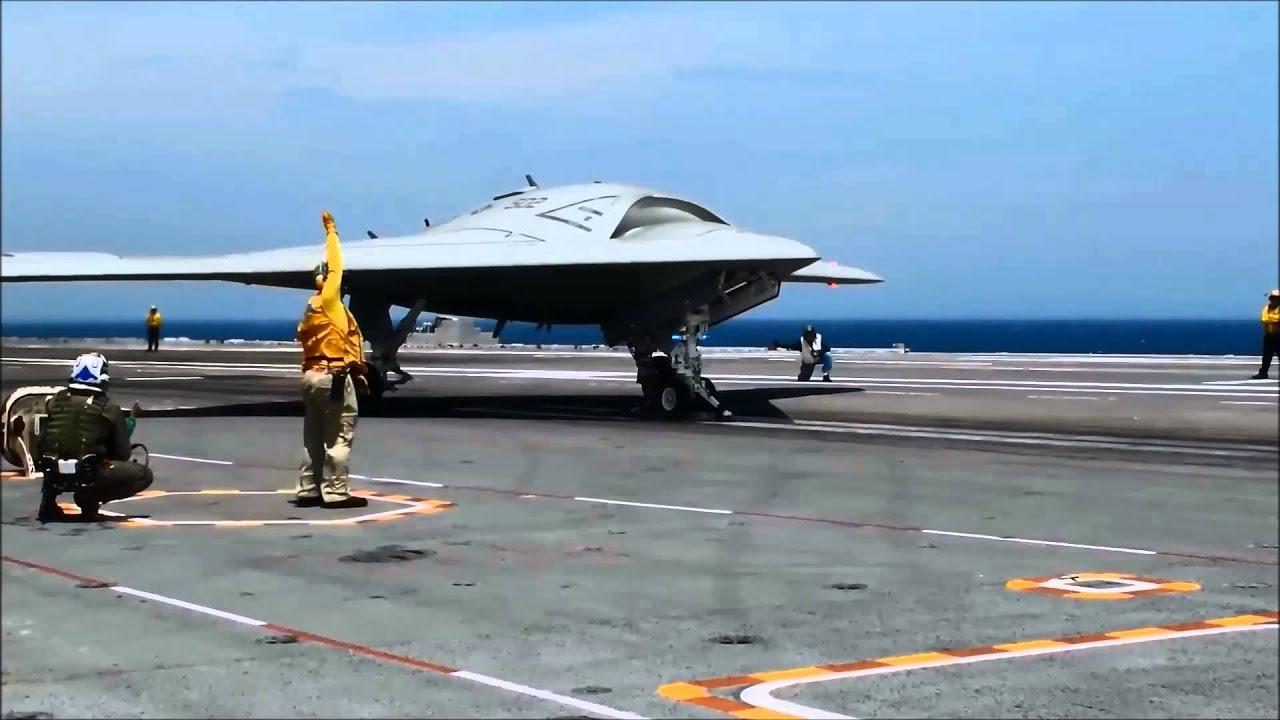 Northrop Grumman X 47b First Carrier Based Arrested
