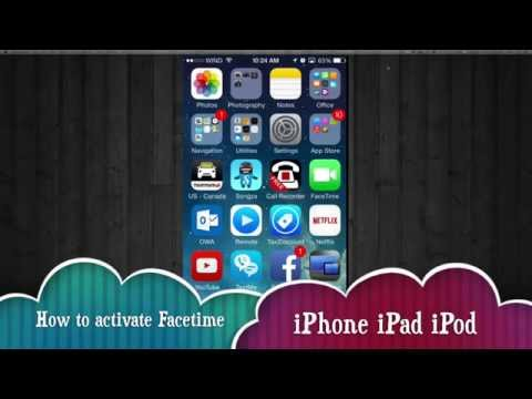 How to turn on FaceTime activate deactivate turn off iPhone iPad iPod