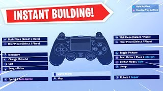 Best Fortnite Custom Controller Settings For Building - INSTANT EDITING