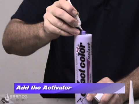 The easiest way to match caulk to any paint color--eXact color!