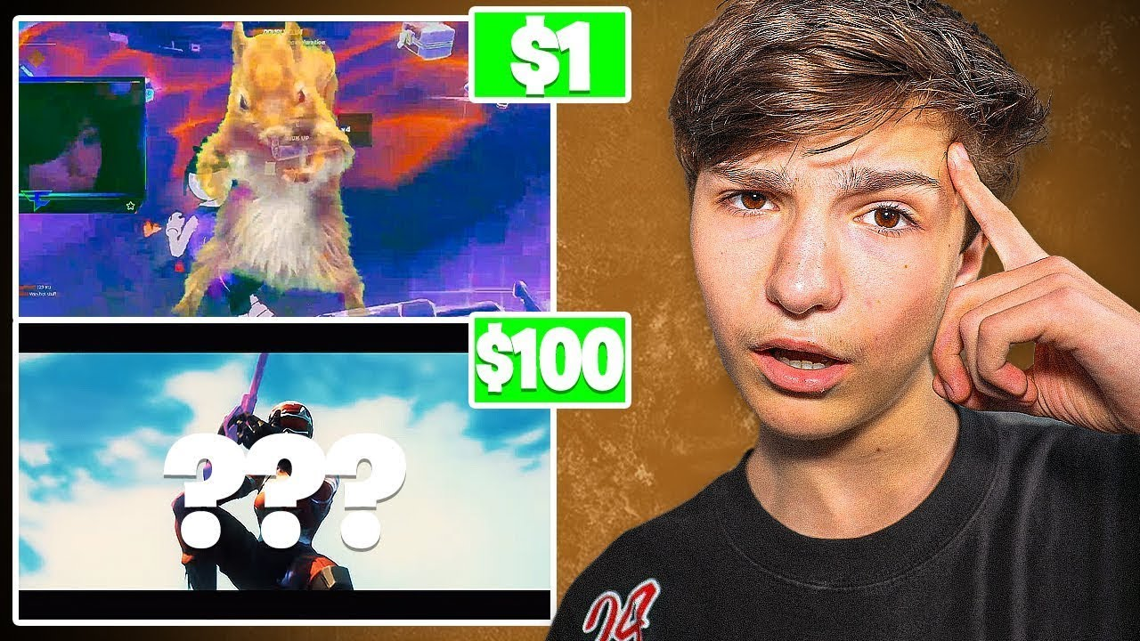 I Hired 4 INSANE Editors For A Fortnite Montage.. (100$)