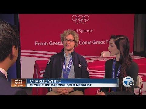 Meryl Davis and Charlie White welcomed home