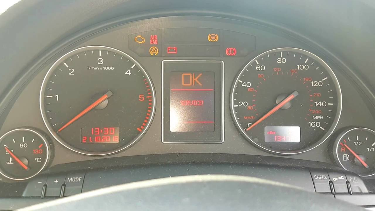 How to reset the service light on Audi A4