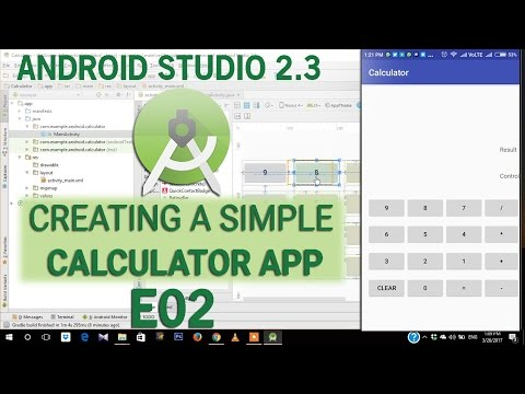 How to create SIMPLE CALCULATOR in Android Studio for A