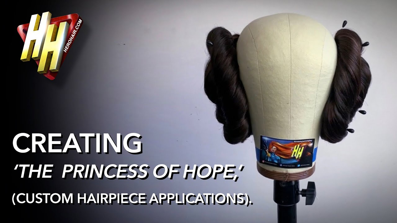 'PRINCESS OF HOPE: Episode IV' Custom Hairpiece Applications ('Space Buns').