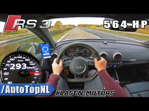 564HP AUDI RS3 Klasen   AUTOBAHN POV (NO SPEED LIMIT!) by AutoTopNL