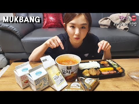 리얼먹방:) 햄지's 편의점 최애템ㅣKorean Convenience Store FoodㅣREAL SOUNDㅣASMR MUKBANGㅣEATING SHOWㅣ