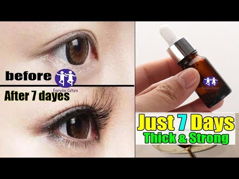 OMG! In Just 7 Days Grow Long, Thick, Healthy Lashes  real Long, Thick & Strong Eyebrows & Eyelashes