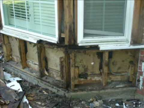 Bay window renovation youtube for Bay window construction details