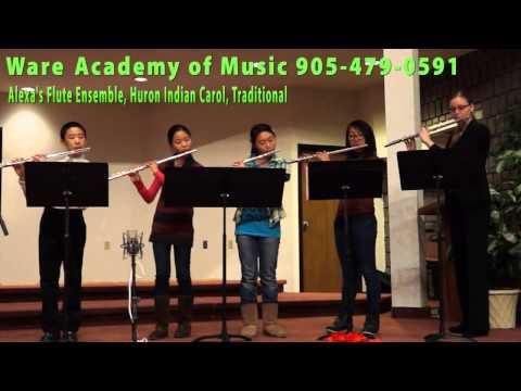 Ware Academy of Music Flute Ensemble, Huron Indian Carol