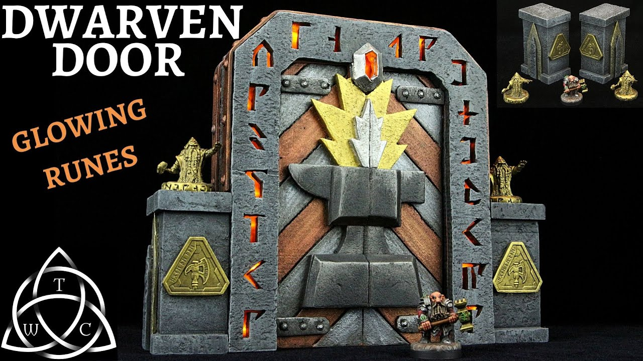 Craft a Dwarven Door with LED Runes for Dungeons & Dragons