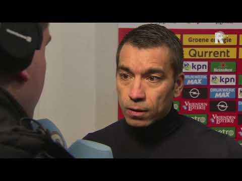Trainer Van Bronckhorst over de 1-1 tegen Heerenveen
