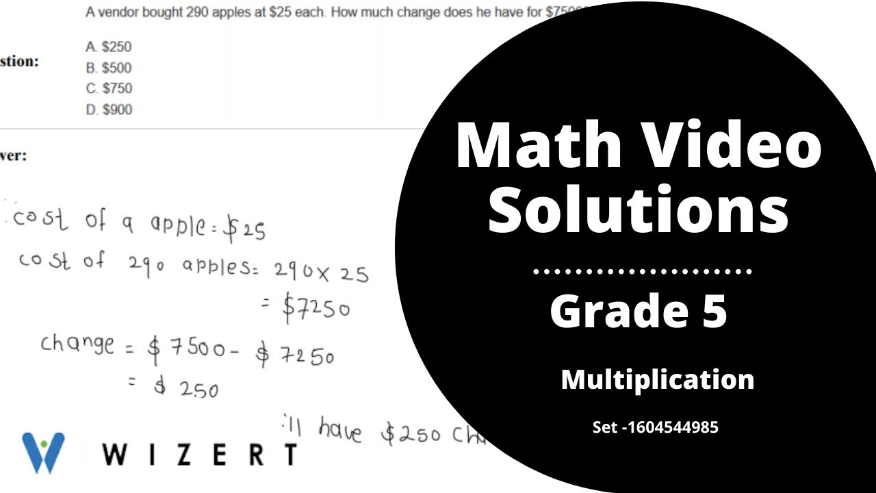 small resolution of Maths Tests for Grade 5 - Grade 5 Multiplication worksheets - Set  1604544985 - YouTube